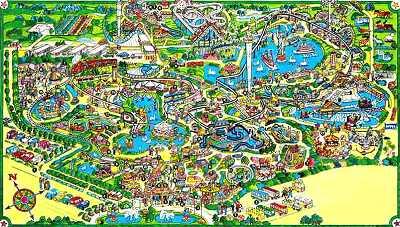 heide park karte Heide Park Soltau   Karte des Parks   .themeparks.de