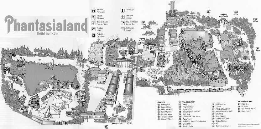 Phantasialand Park Karte.Phantasialand Karte Des Parks Www Themeparks De