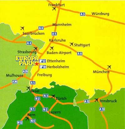 Europa Park Karte.Europa Park Anfahrtsbeschreibung Www Themeparks De